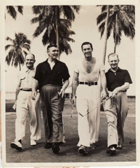Clark Gable and friends, at Nassau.