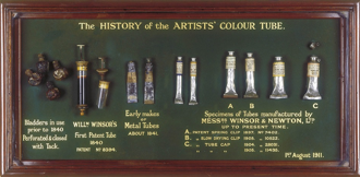 The history of the artists' colour tube